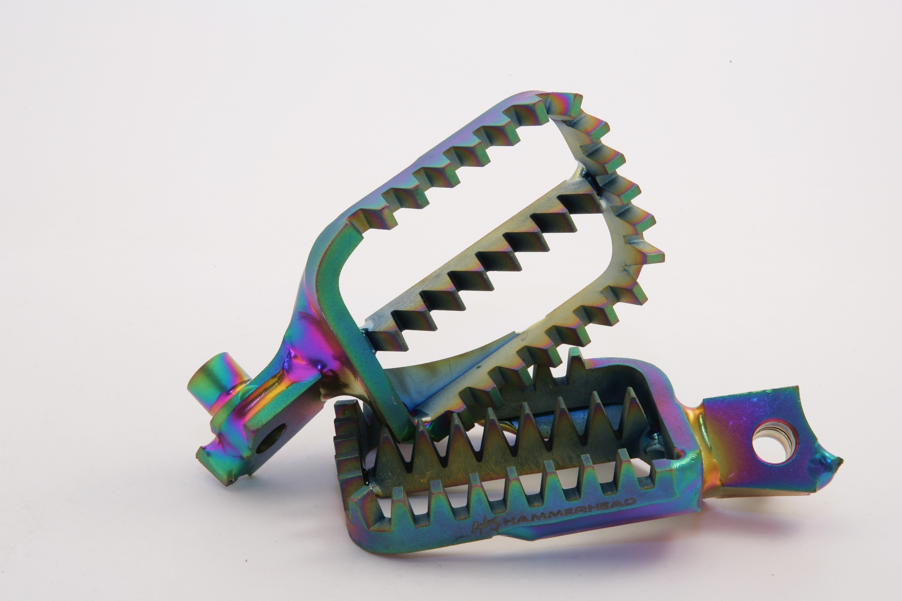 PARAGON Titanium Foot Pegs - Honda (OIL SLICK)